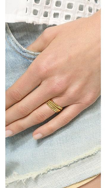 Gorjana Texture G Ring Set