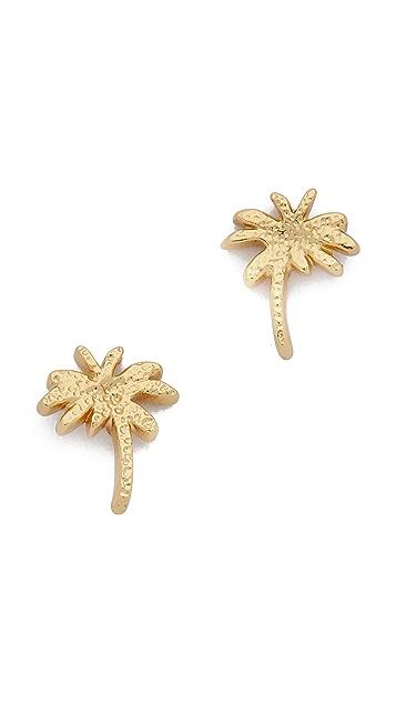 Gorjana Palm Tree Stud Earrings