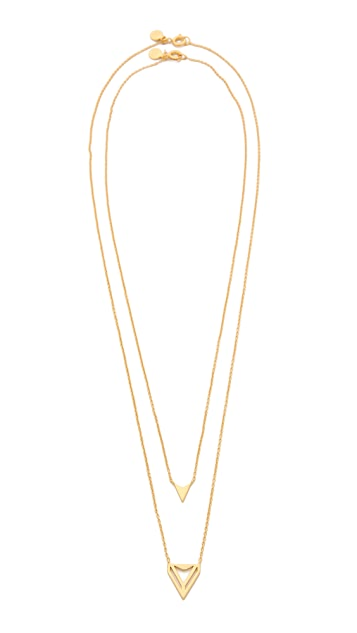 Gorjana Harper Triangle Necklace