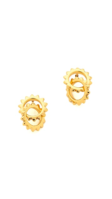 Gorjana Cyra Linked Drop Stud Earrings