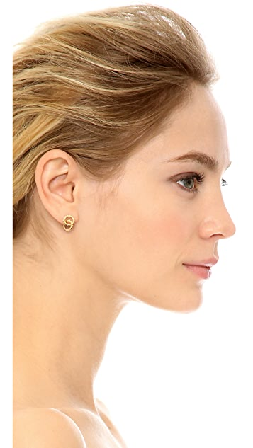 Gorjana Cyra Linked Drop Stud Earrings