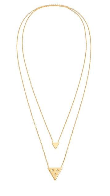 Gorjana Mika Double Pendant Necklace