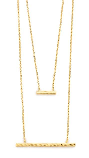Gorjana Mave Hammered Double Pendant Necklace
