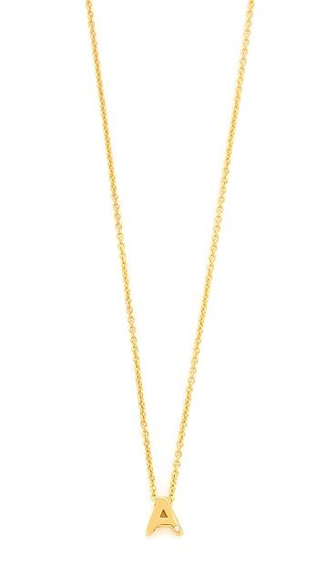 Gorjana Shimmer Block Letter Necklace