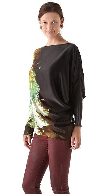 Maria Grachvogel Long Sleeve Printed Top