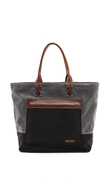 Graf & Lantz Parker Boat Bag in Waxed Canvas