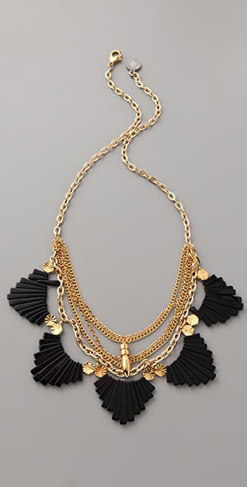 Gemma Redux Onyx and Chain Necklace