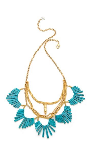 Gemma Redux Scalloped Stone Necklace