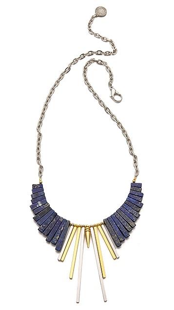 Gemma Redux Lapis Simple Bib Necklace