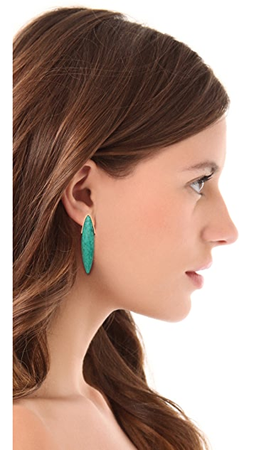 Gemma Redux Linear Turquoise Studs