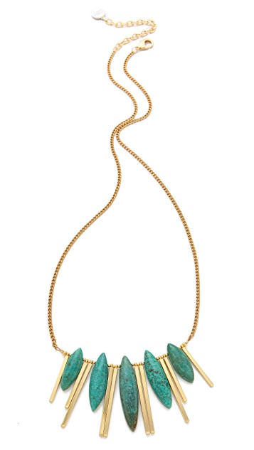Gemma Redux Turquoise Bar Necklace