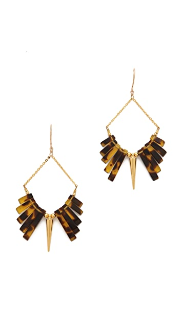 Gemma Redux Tortoiseshell & Spike Earrings
