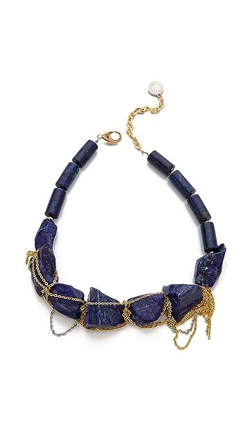 Gemma Redux Stone & Drip Chain Collar Necklace