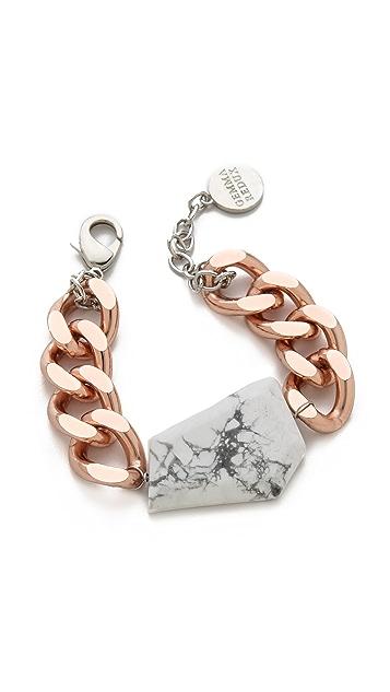 Gemma Redux Howlite Curb Chain Bracelet