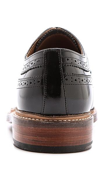 Grenson Sid Hi-Shine Wingtip Shoes