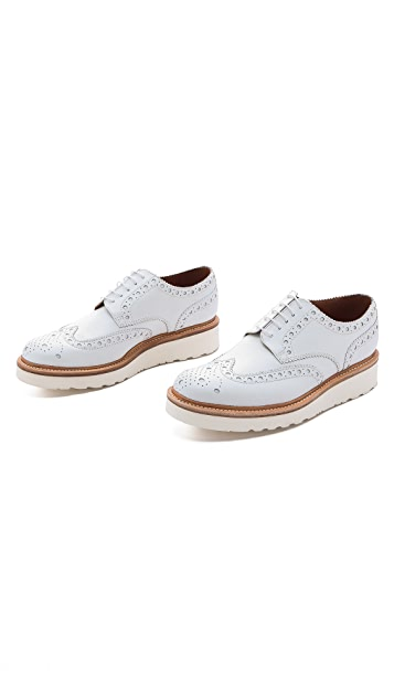Grenson Archie Wingtips with Wedge Sole