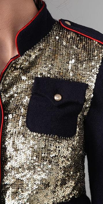 Gryphon Sequin Felt Jacket