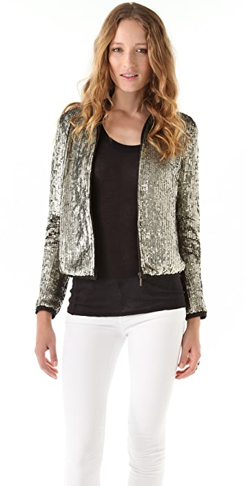 Gryphon Sequined Bomber Jacket
