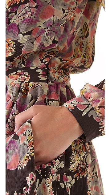 Gryphon Sequin Collar Shirtdress