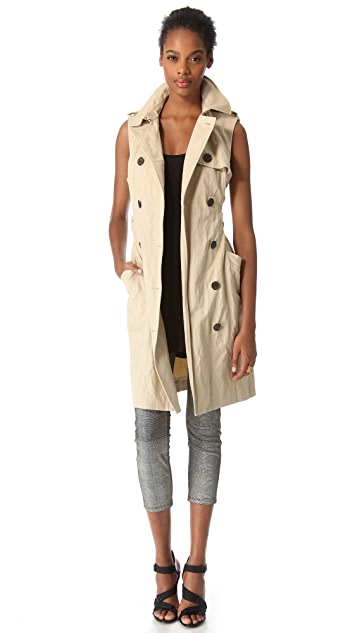 Gryphon Knit Sleeve Trench