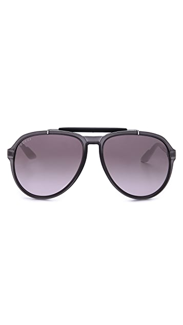 Gucci Aviator Sunglasses with Gradient Lenses