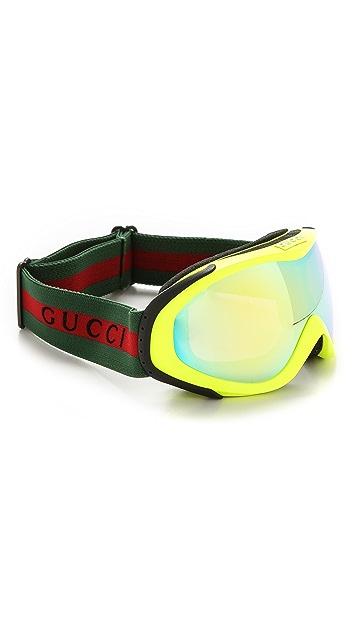 Gucci Ski Goggles with Fluorescent Lens