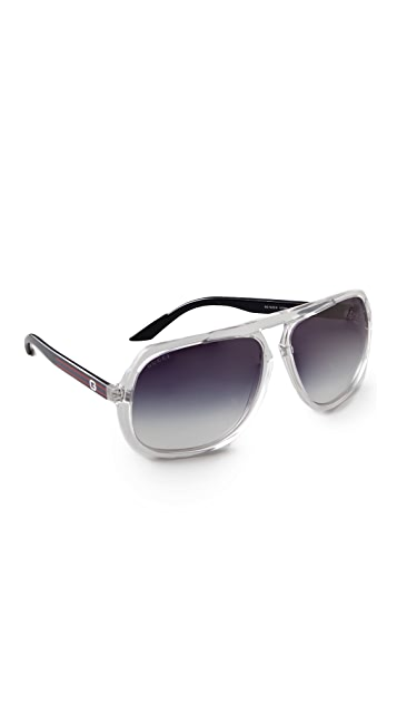 6513b7b86b Gucci Oversized Aviator Sunglasses