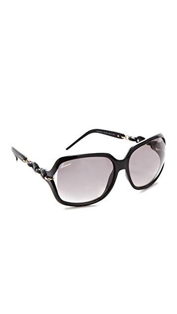 Gucci Chain Link Square Sunglasses