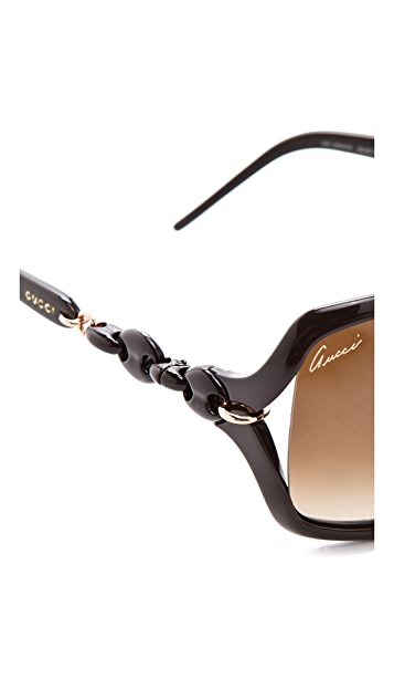 968d64b819a1f ... Gucci Chain Link Square Sunglasses