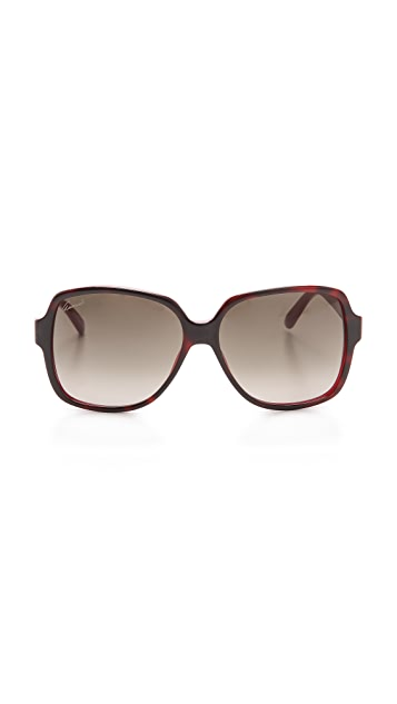 Gucci Oversized Square Sunglasses