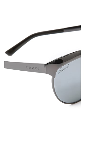 Gucci Mirrored Cat Eye Sunglasses