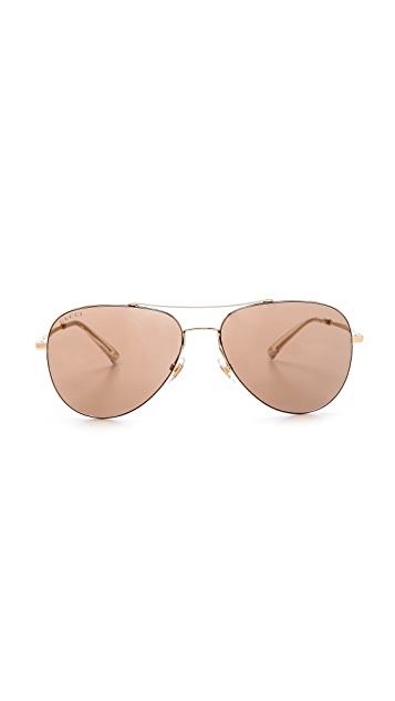 Gucci Aviator Mirror Sunglasses
