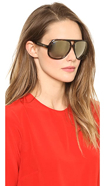 Gucci Oversized Aviator Sunglasses