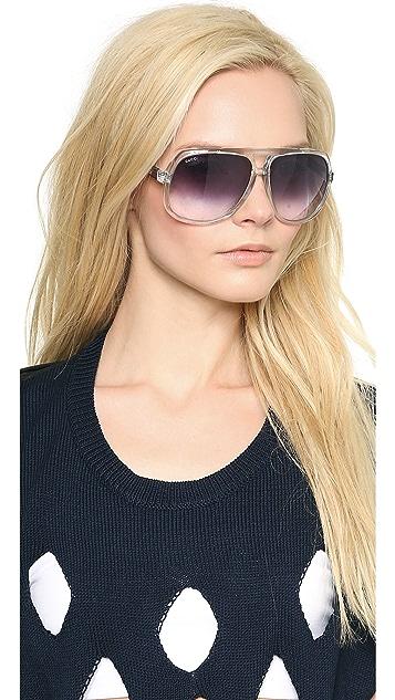 Gucci Mirrored Oversized Aviator Sunglasses