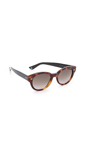 Gucci Круглые двухцветные солнцезащитные очки