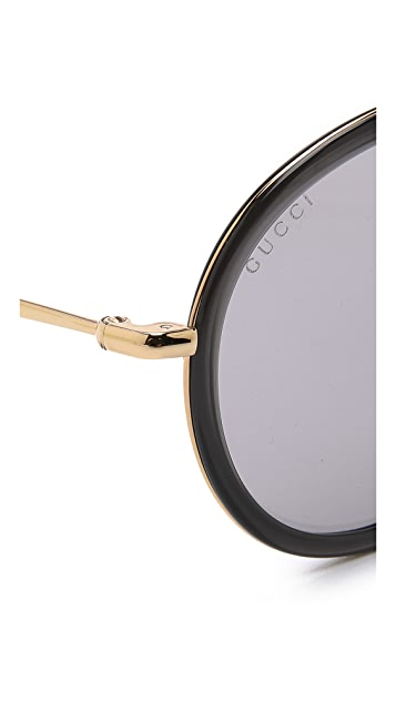 Gucci Round Aviator Sunglasses