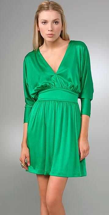 Halston Heritage Deep V Cocktail Dress