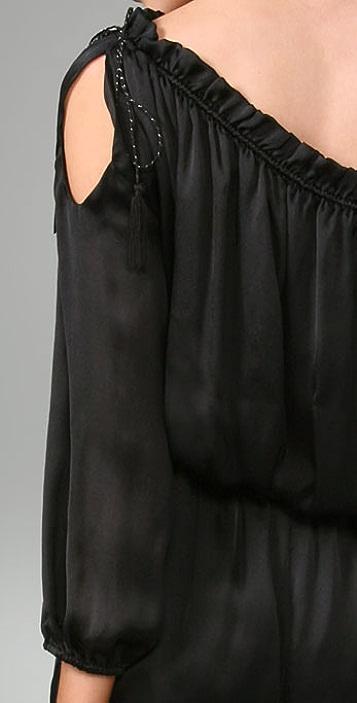 Halston Heritage Shirred Jumpsuit