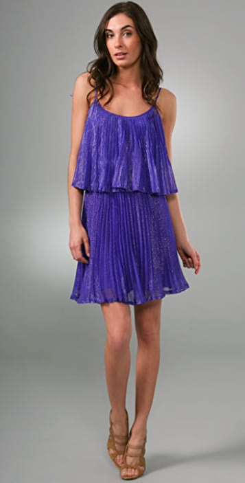 8bff373dd2a Halston Heritage Pleated Cocktail Dress ...