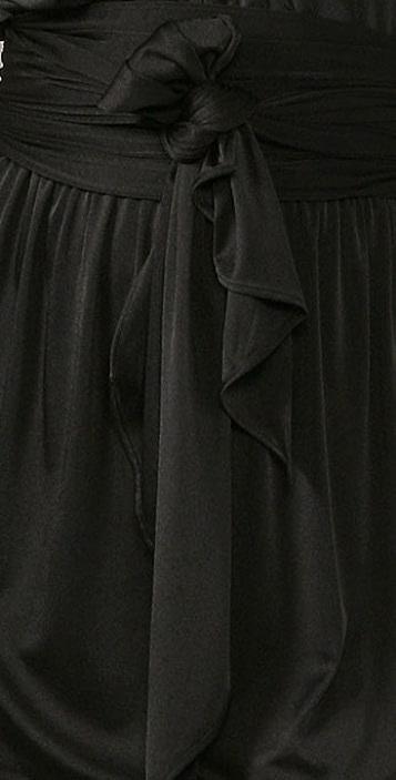 Halston Heritage Shirred Shoulder Dress