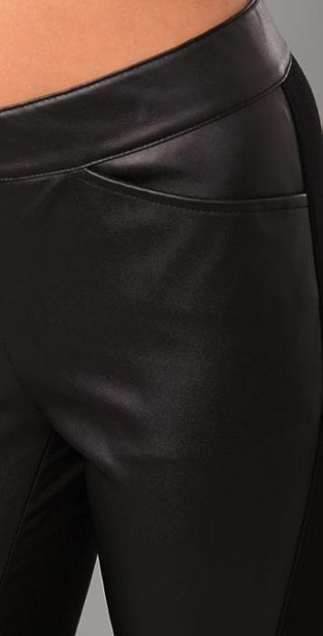 Halston Heritage Faux Leather Leggings