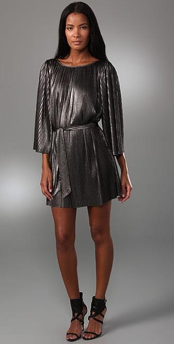 Halston Heritage Pleated Short Dress