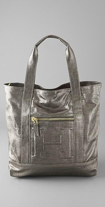 Halston Heritage Metallic Tote Bag