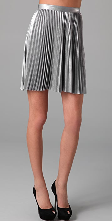 HALSTON Pleated Skirt