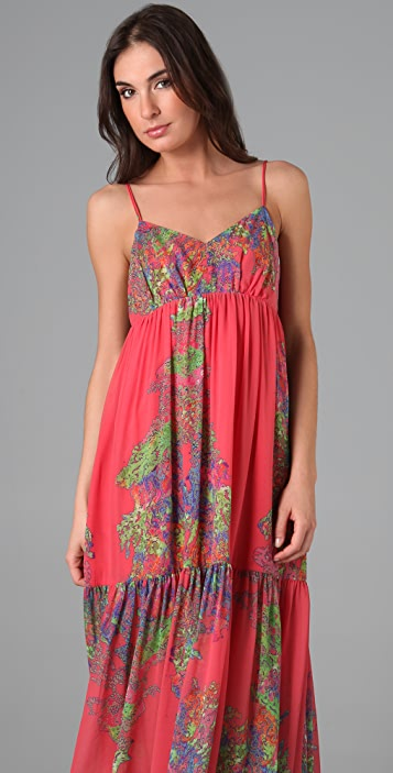 Halston Heritage Print Long Dress