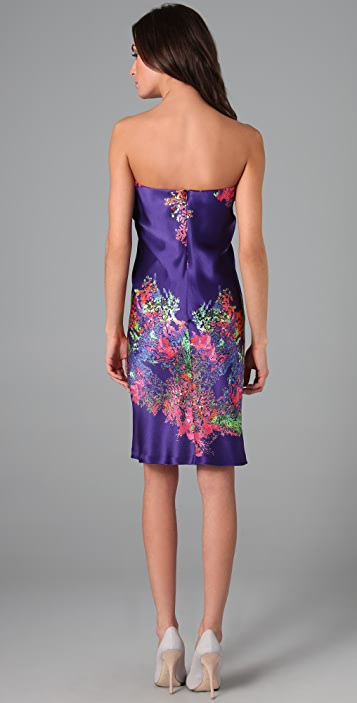 Halston Heritage Sarong Print Cocktail Dress