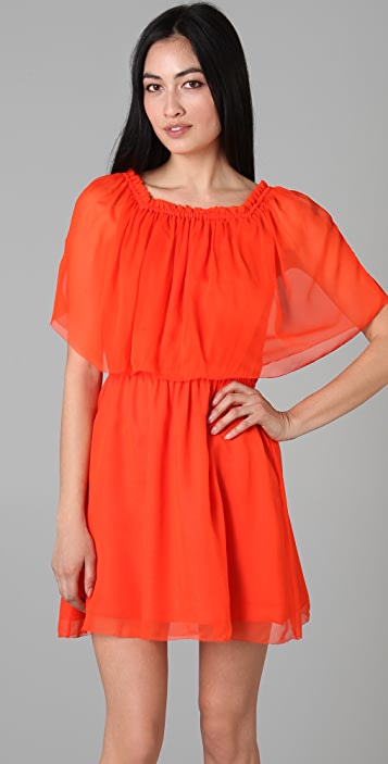 Halston Heritage Off Shoulder Cocktail Dress