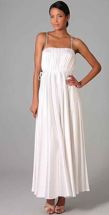 Halston Heritage Blouson Long Dress