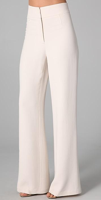 Halston Heritage High Waisted Wide Leg Pants