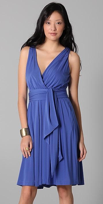 Halston Heritage Wrapped Bodice Dress with Sash